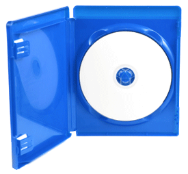 blu-ray disc in retail package